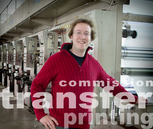 Commission transfer printing