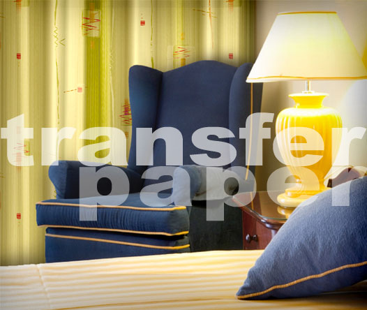 Transfer paper curtain