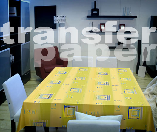 Transfer paper tablecloth